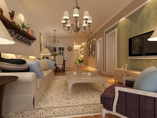 沈阳工装客厅空间的层次分布十分的明显