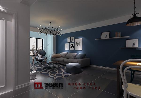 沈阳工装北欧风格客厅倾向于选布艺沙发